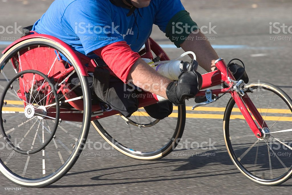 Handicapped racer stock photo