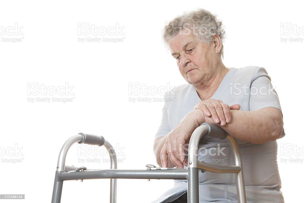 Handicapped senior royalty-free stock photo