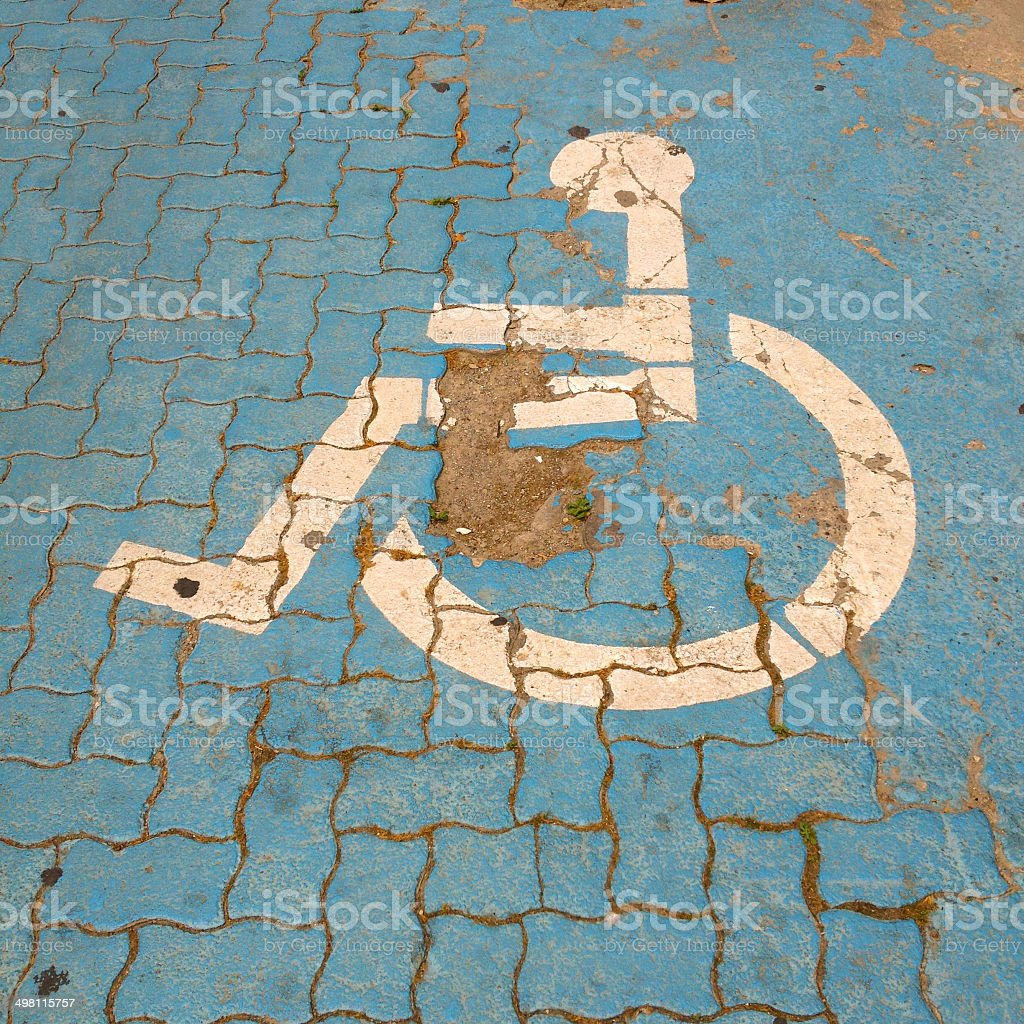 Handicapped sign royalty-free stock photo