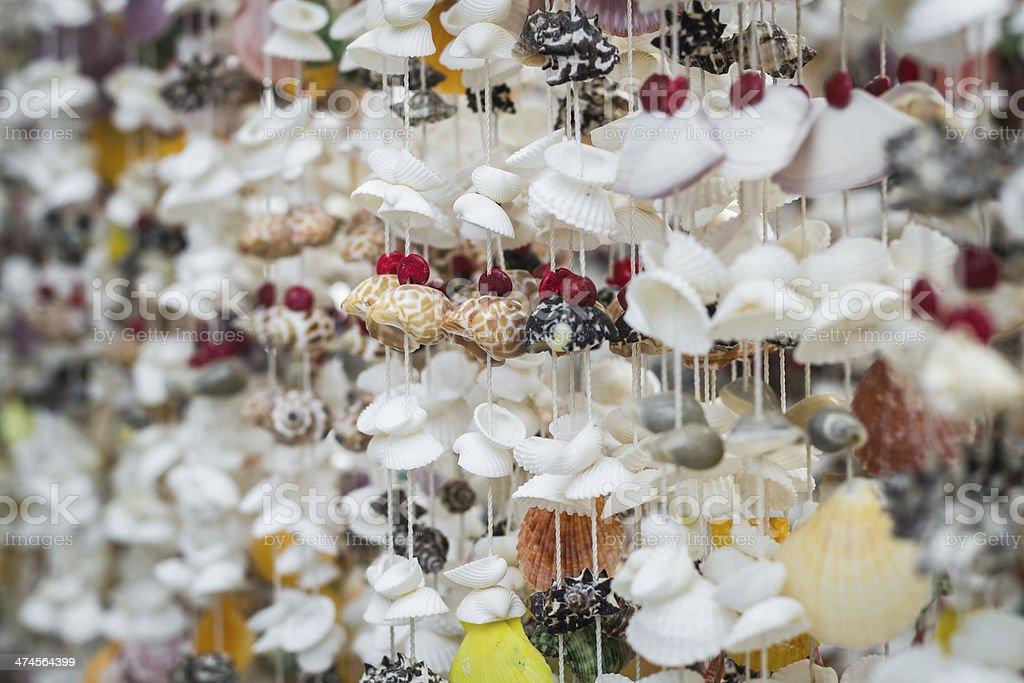 handicraft from seashell stock photo