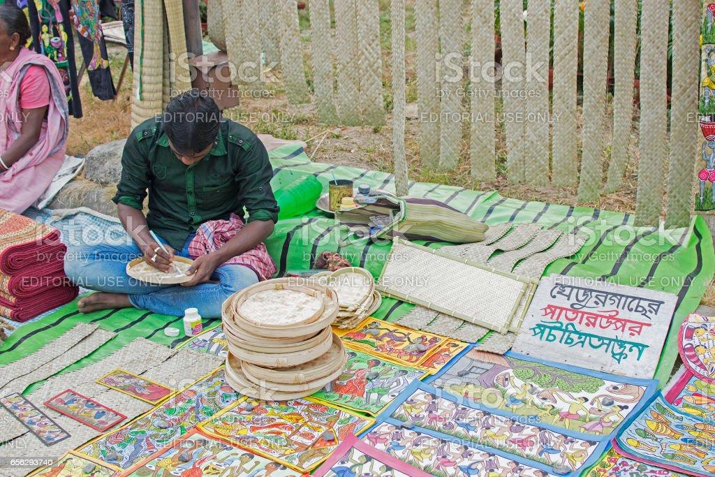 Handicraft items on display , Kolkata stock photo