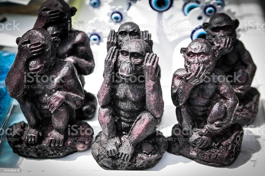 handicraft monkey stock photo