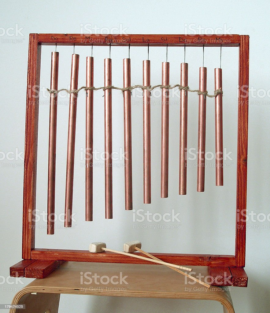 handicraft percussion instrument with the scale royalty-free stock photo