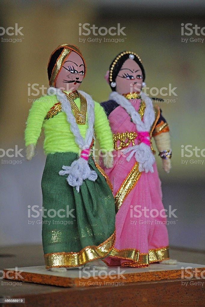 Handicraft, Wooden puppets, Sawantwadi, Maharashtra, India royalty-free stock photo