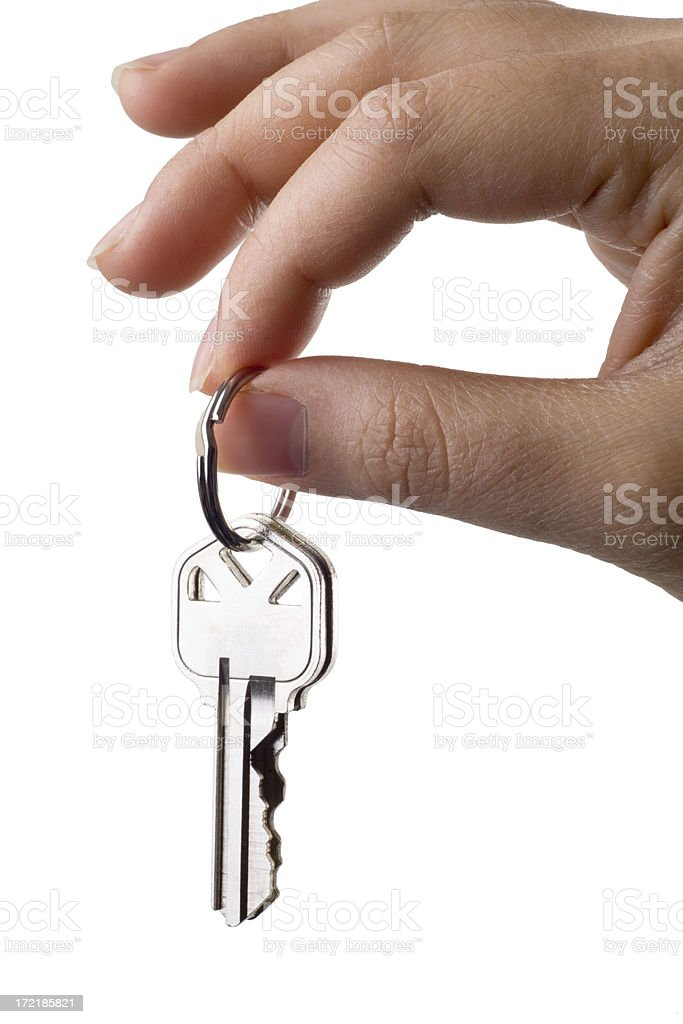 Handing Over the Keys royalty-free stock photo