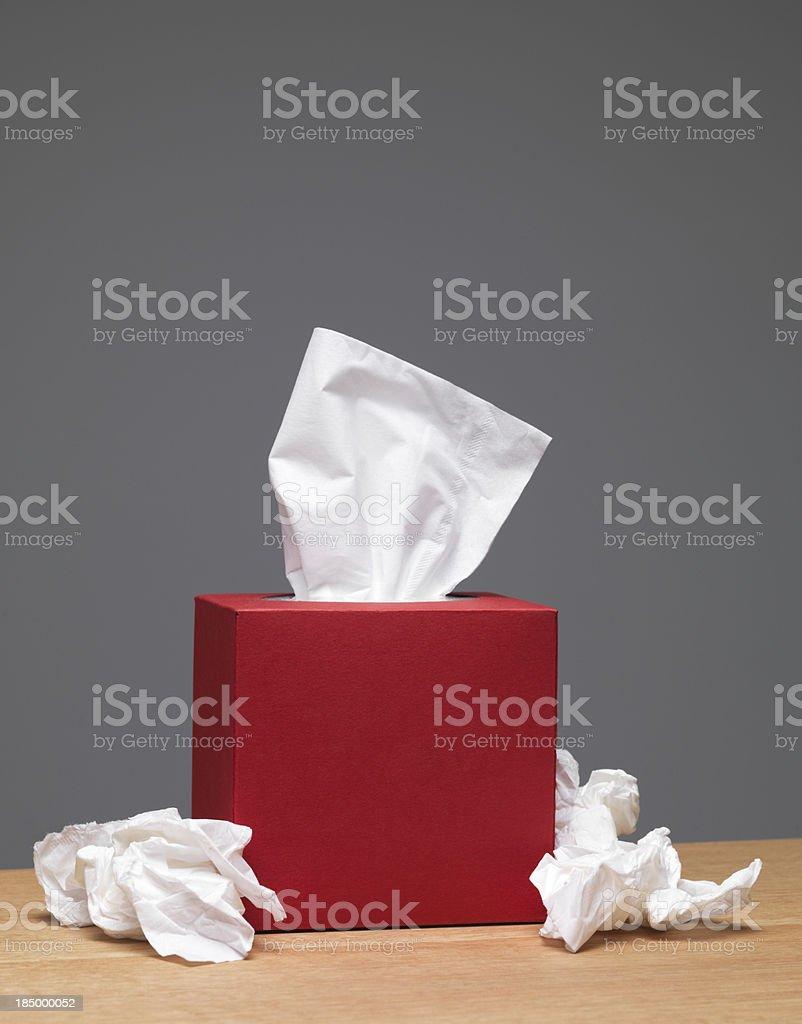 Handkerchief box on tabletop royalty-free stock photo