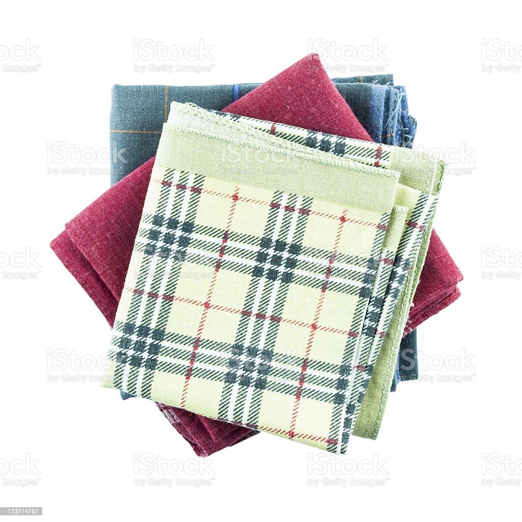 Handkerchief isolated royalty-free stock photo