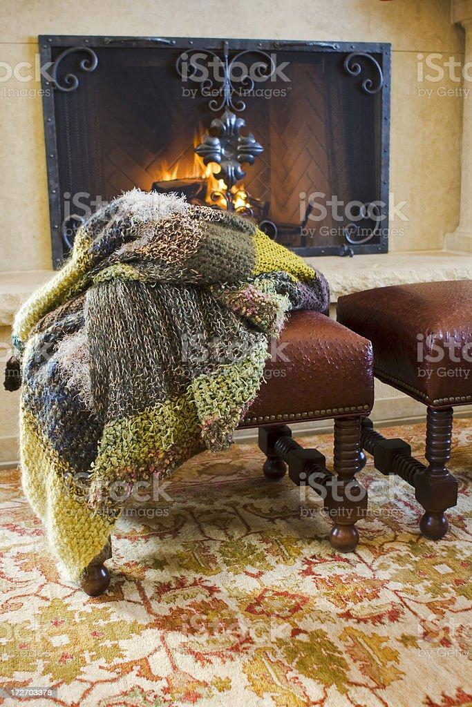 Handknit Wool Afghan royalty-free stock photo