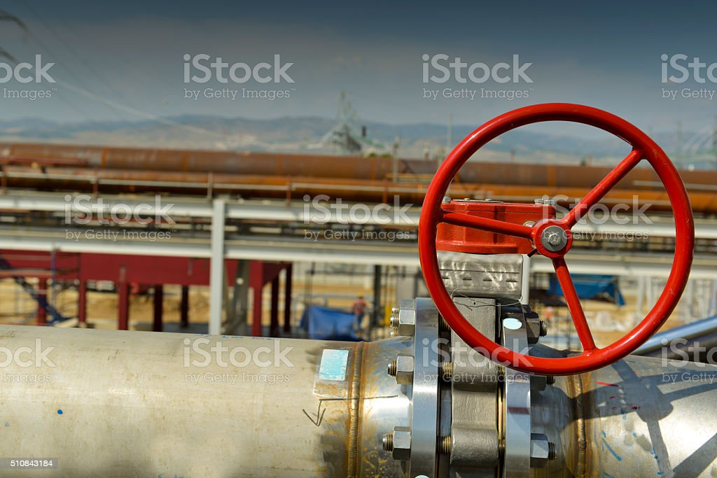 Handle gate valve with steel pipe, Turkey stock photo