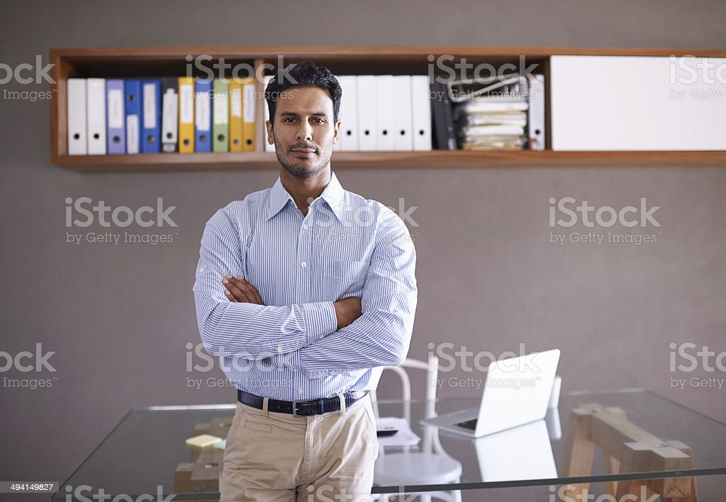 I handle my business stock photo
