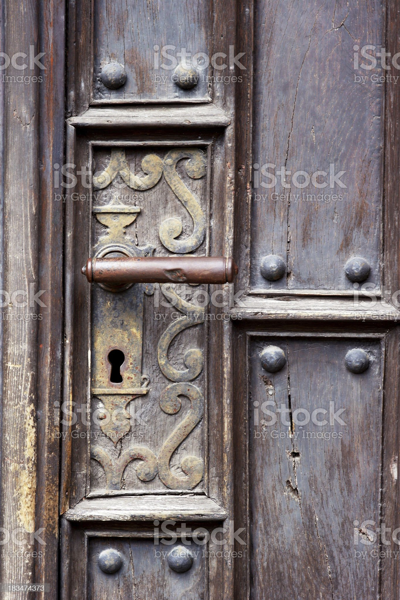 Handle of an old door royalty-free stock photo