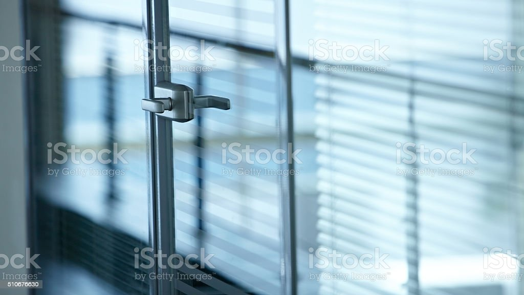 Handle of door stock photo