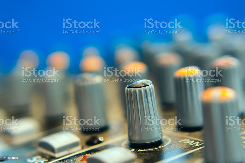 handle the equalizer stock photo