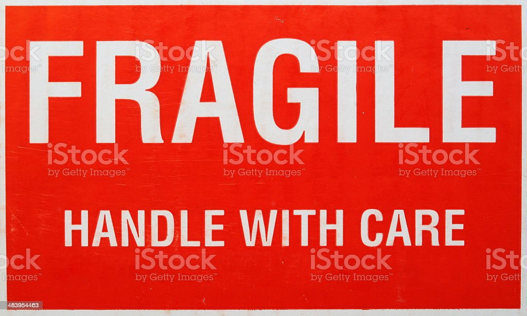FRAGILE – Handle With Care stock photo
