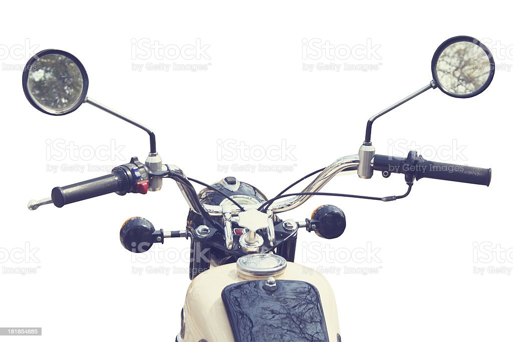Handlebar motorbike royalty-free stock photo