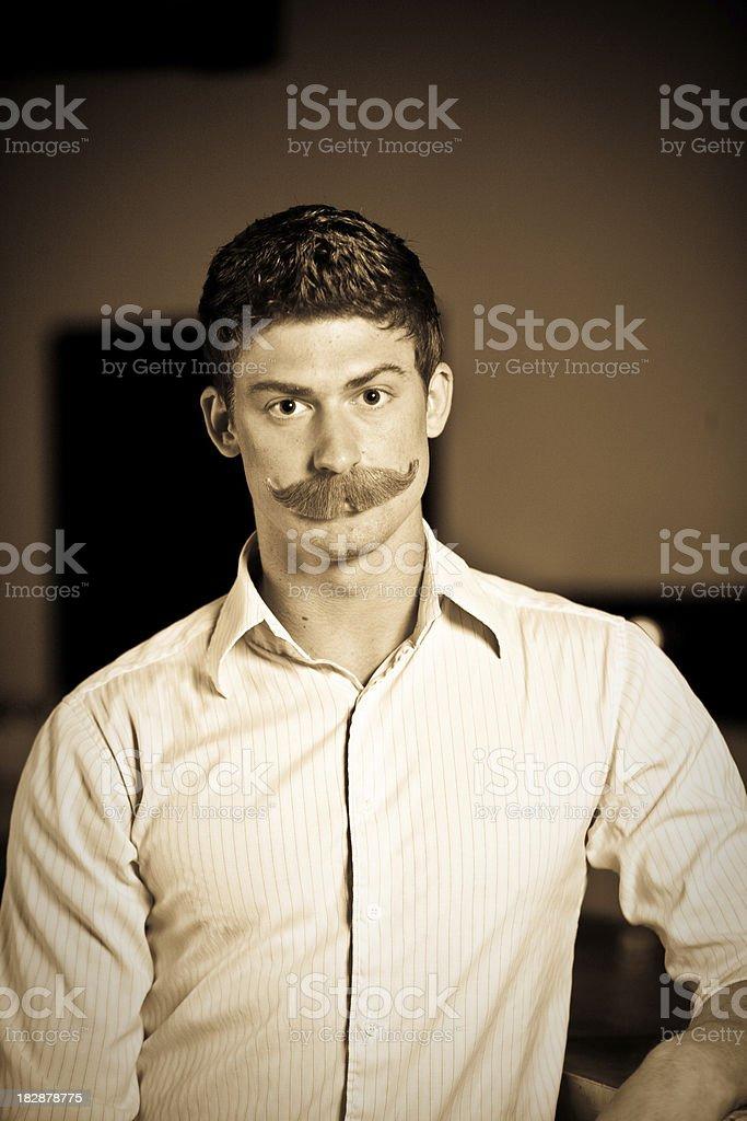 handlebar mustache stock photo