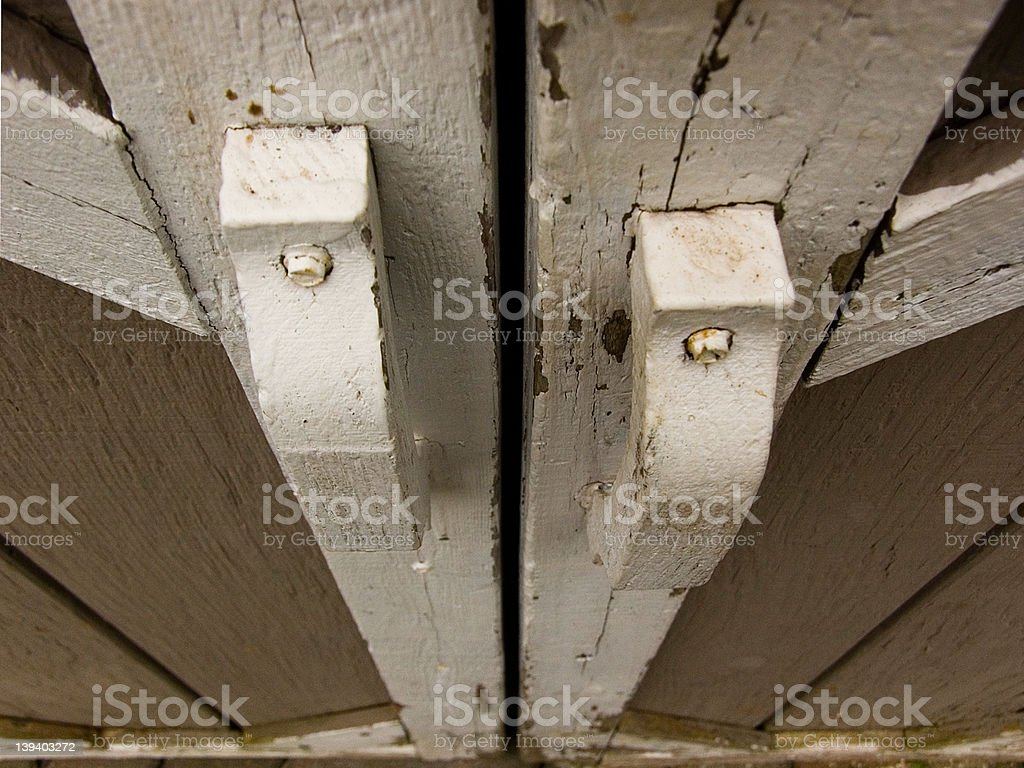 Handles for shed royalty-free stock photo