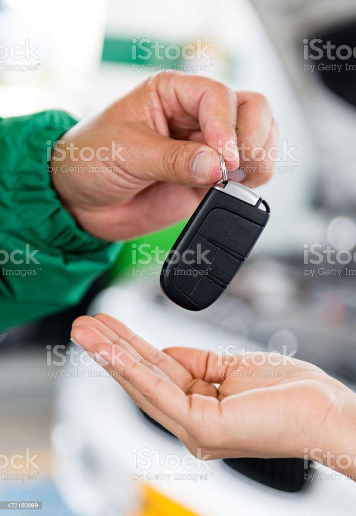 Handling car keys royalty-free stock photo