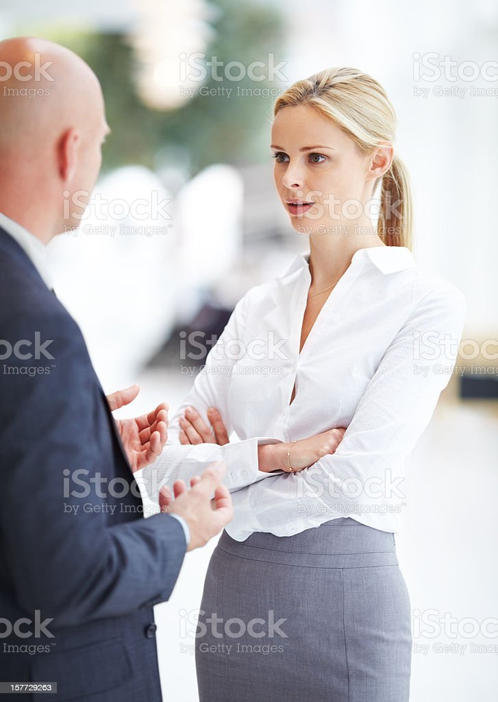 Handling everyday conflicts royalty-free stock photo