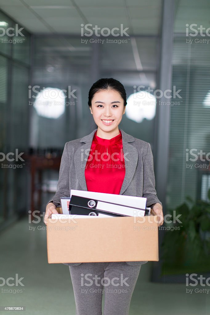 handling office supplies stock photo