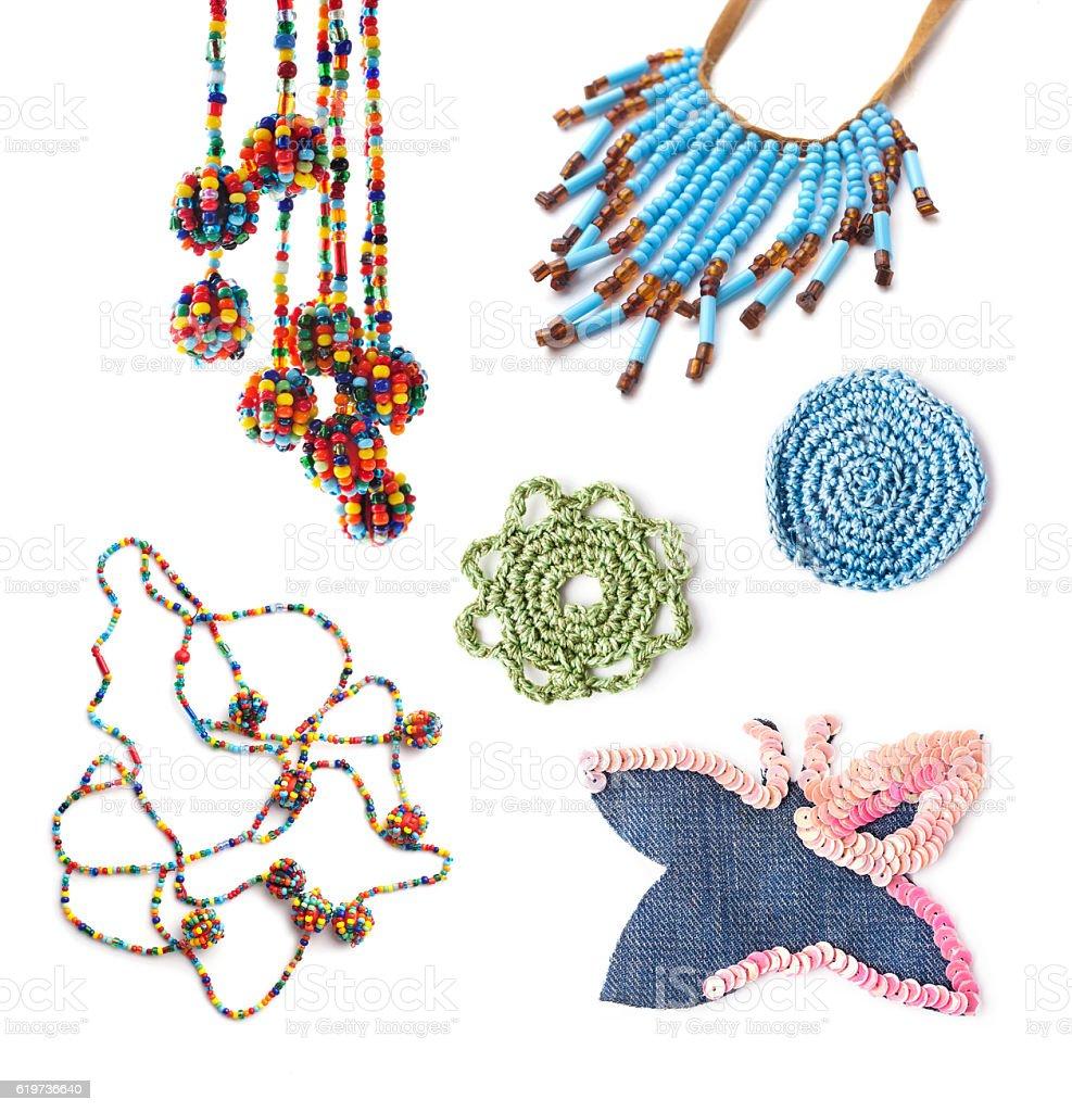 Handmade accessories in hippie style stock photo