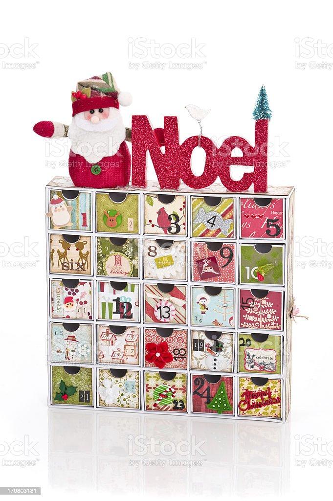 Handmade Advent Calendar for December royalty-free stock photo