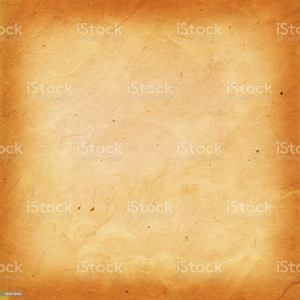 Handmade aged brown rice paper texture stock photo