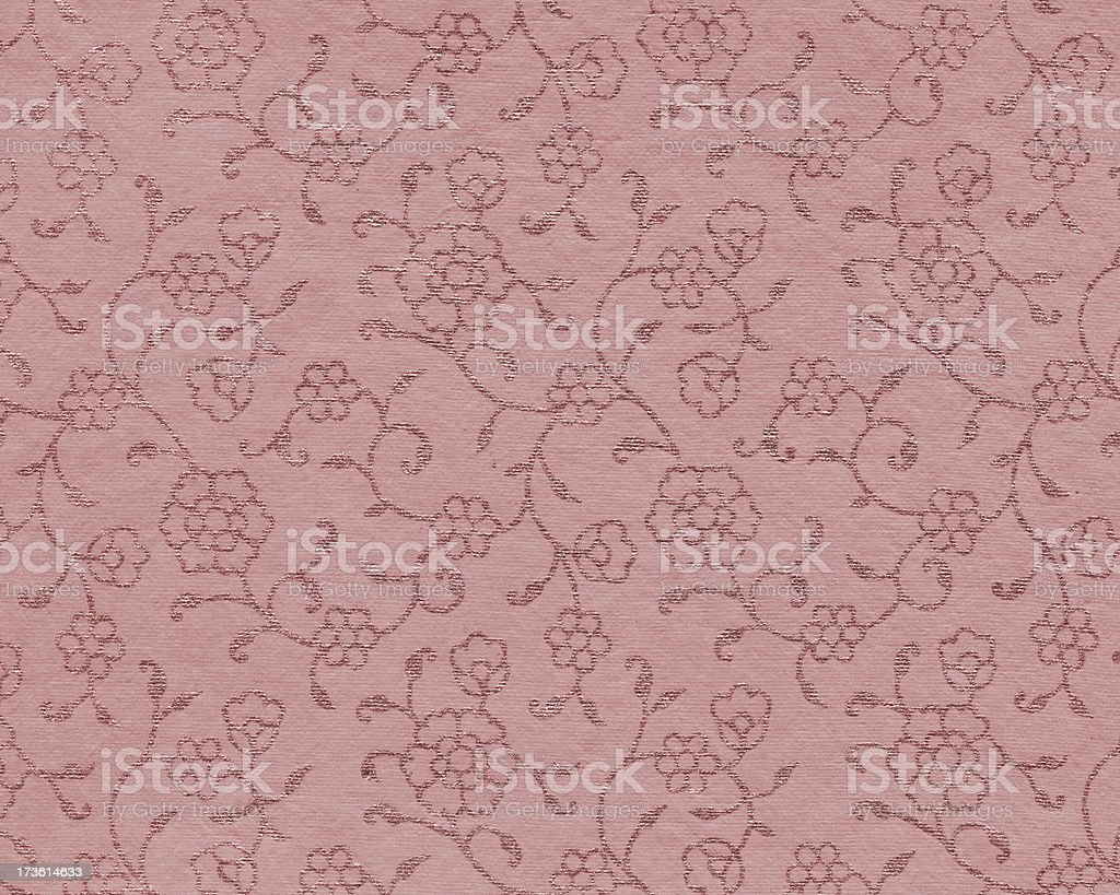 handmade art paper with floral pattern royalty-free stock photo