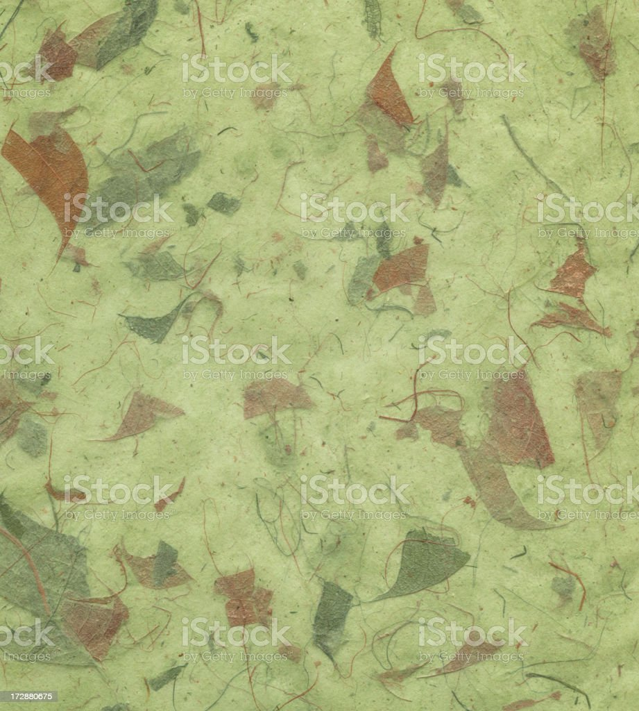 handmade art paper with leaves royalty-free stock photo