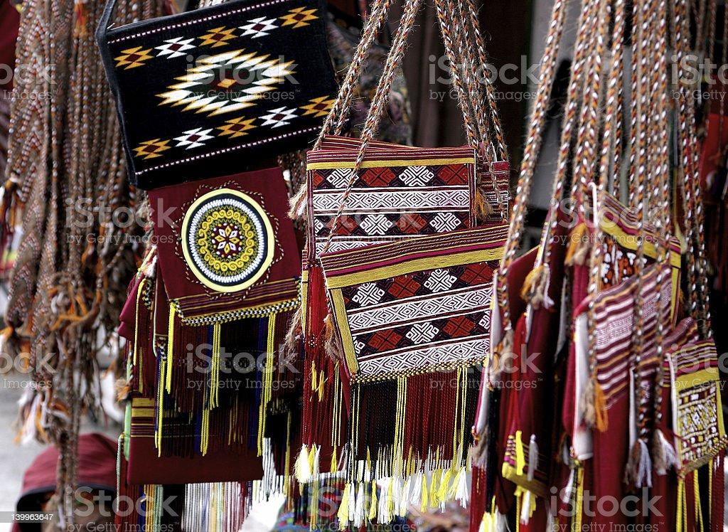 Handmade bags royalty-free stock photo