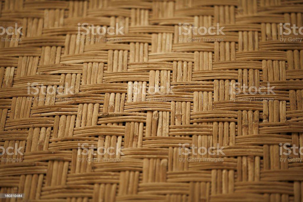 Handmade bamboo mat background royalty-free stock photo
