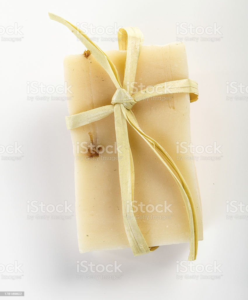 Handmade bar of soap royalty-free stock photo