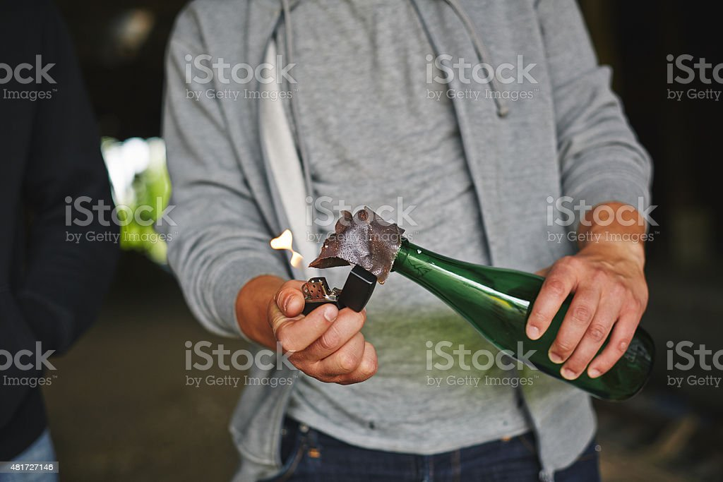 Handmade bomb stock photo