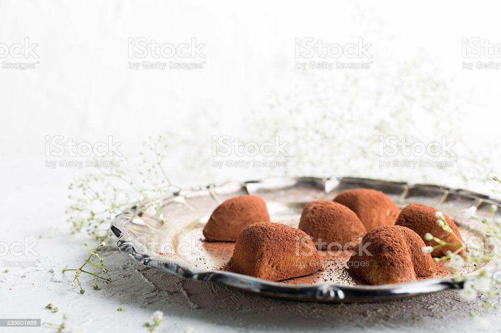 Handmade candies Tiramisu stock photo