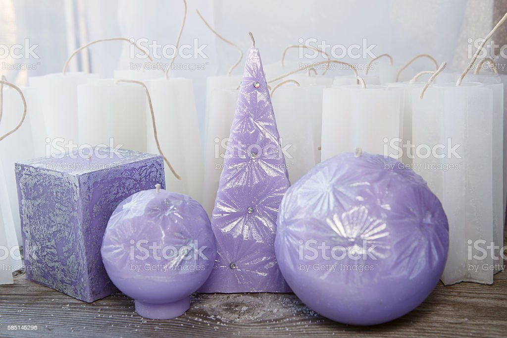 Handmade candles stock photo