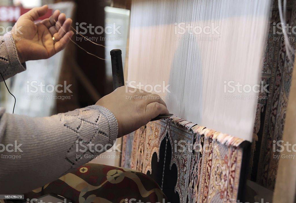 Hand-made Carpet stock photo