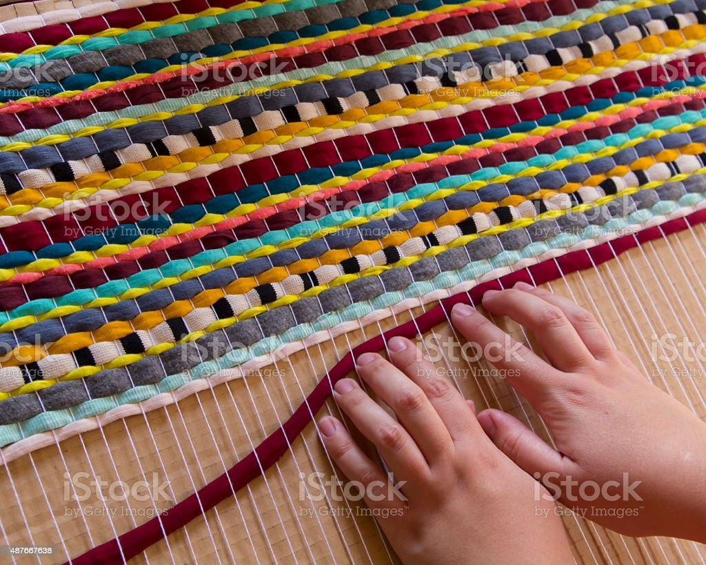Handmade carpet stock photo