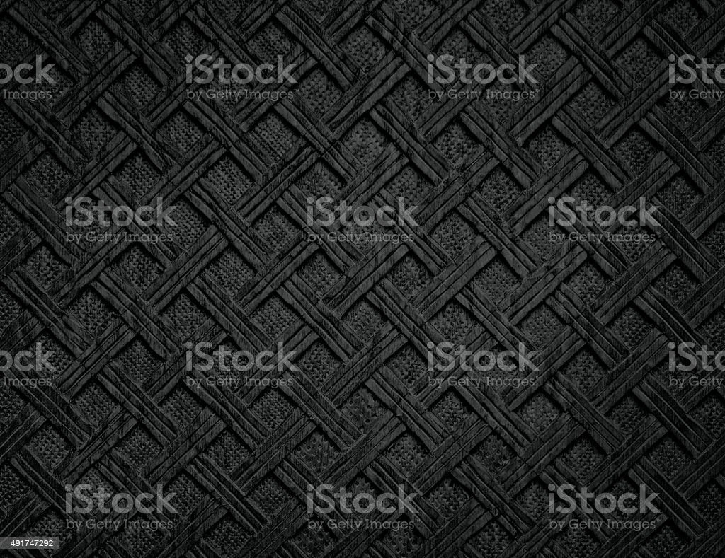 Handmade carved wood texture in black colour shades stock photo