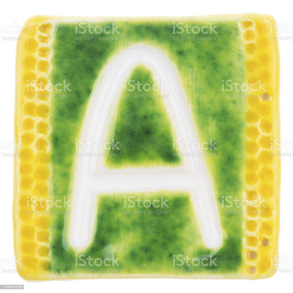 Handmade ceramic letter royalty-free stock photo