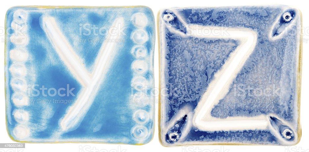 Handmade ceramic letters royalty-free stock photo