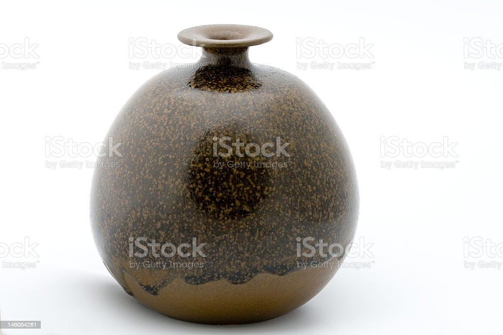 Handmade ceramic vase stock photo