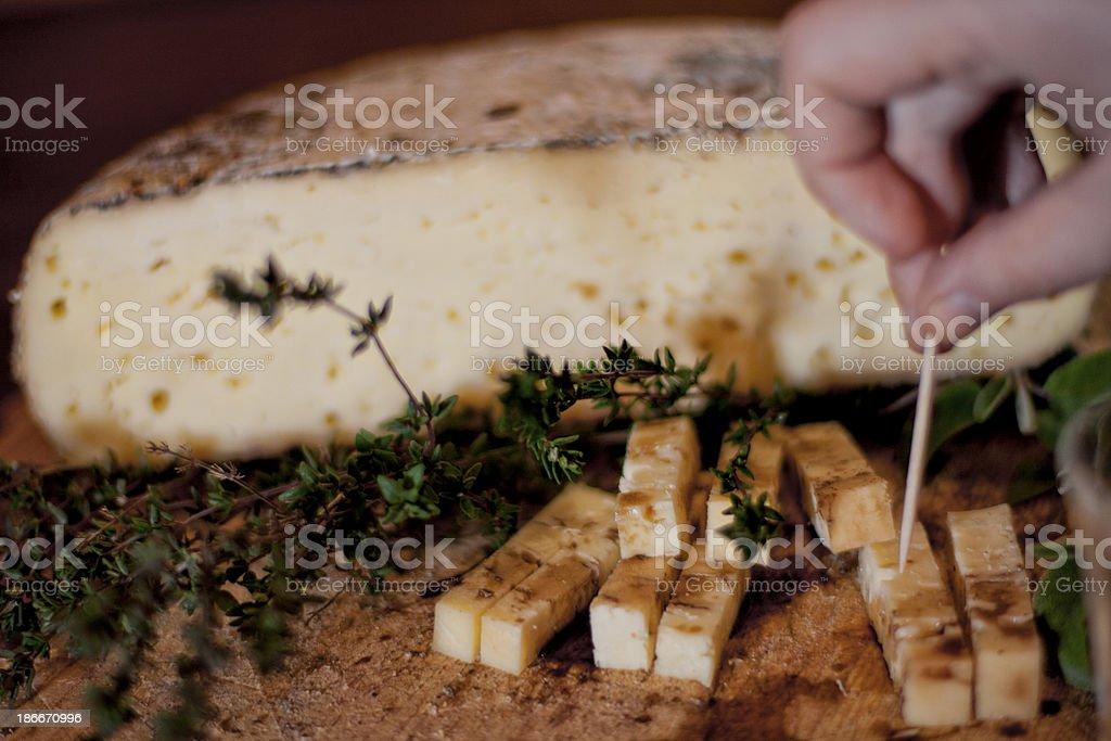 Hand-made cheese stock photo