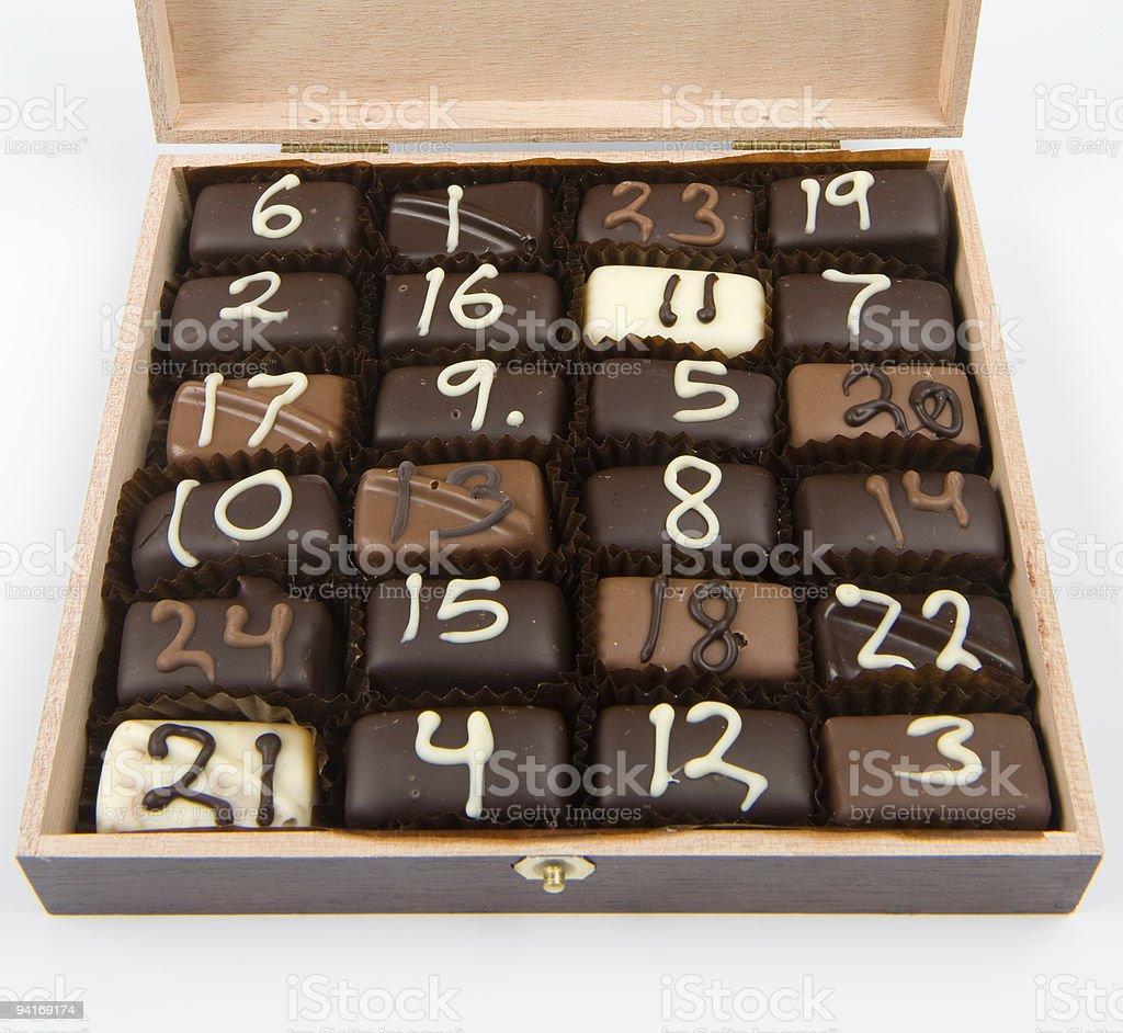 Handmade Christmas chocolate # 1-24 royalty-free stock photo