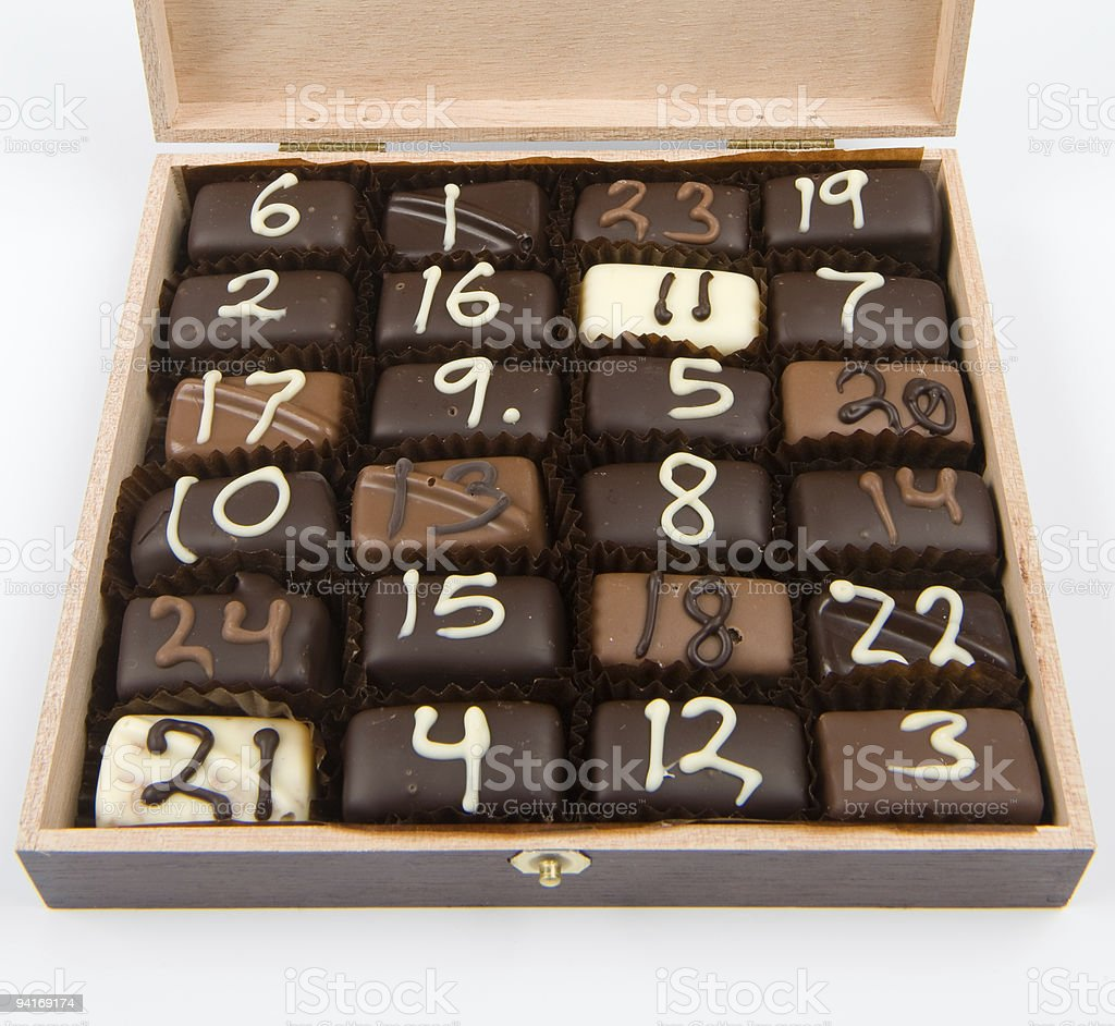 Handmade Christmas chocolate # 1-24 stock photo