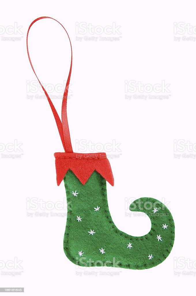Handmade Christmas decorations royalty-free stock photo