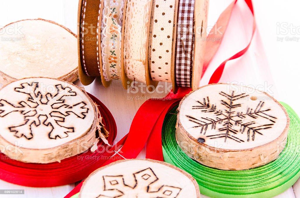 Hand-made christmas ornament decoration stock photo