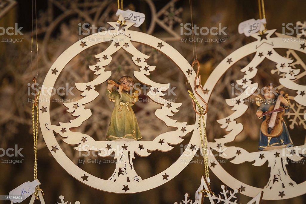 Handmade Christmas Ornaments Austria stock photo