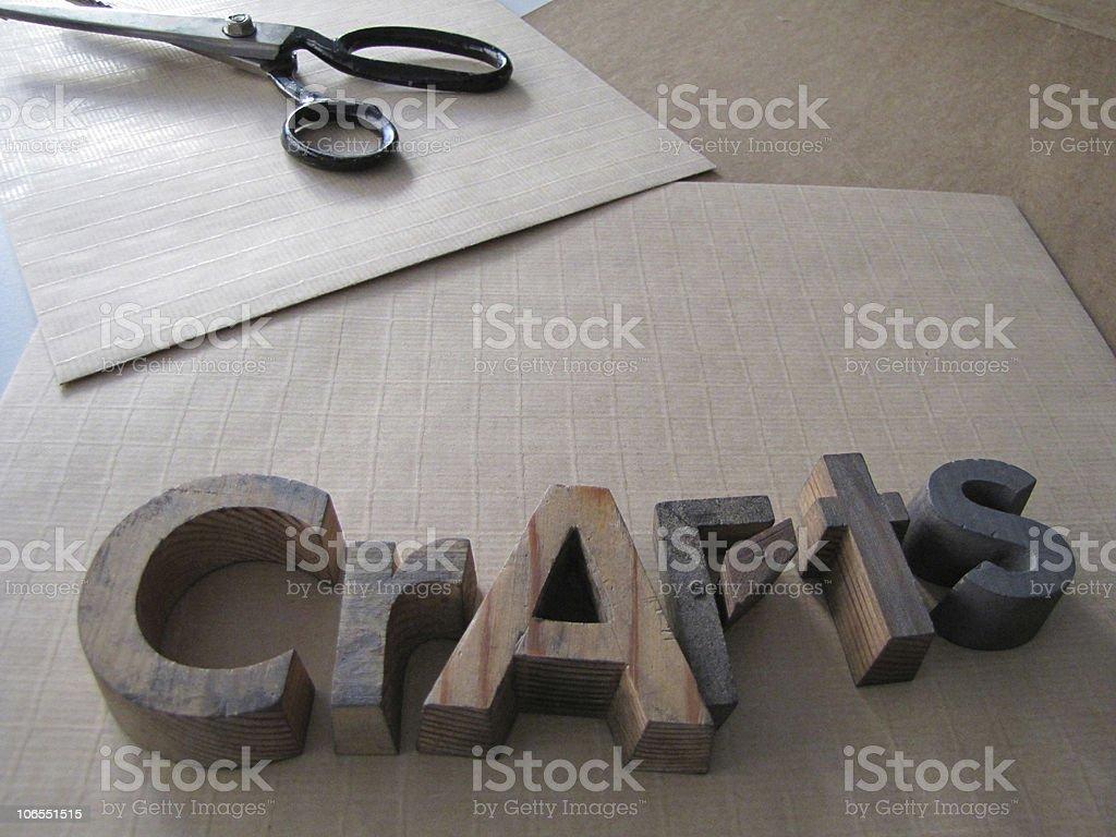 Hand-made crafts stock photo