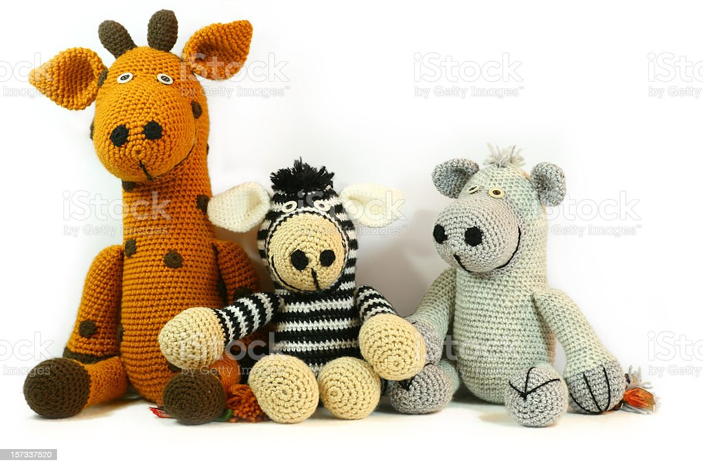 Handmade Cuddly Toys stock photo