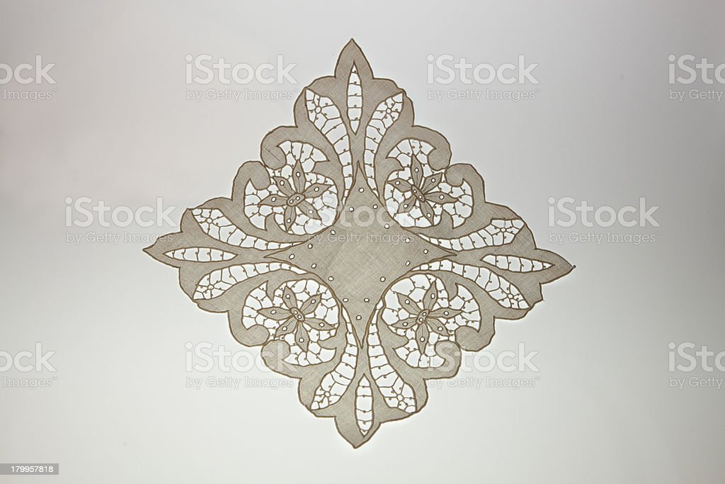 Handmade doily royalty-free stock photo